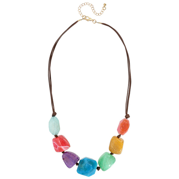 Kette - Colourful Achat