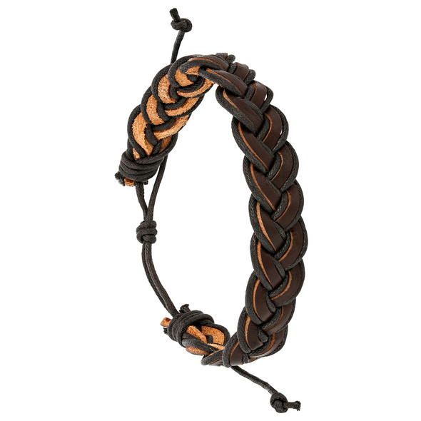 Herren Armband -  New Braided Leather