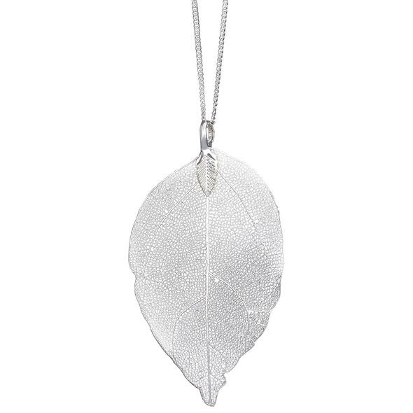 Kette - Blatt Silber