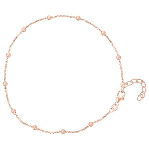 Fußkettchen - Many Golden Pearls