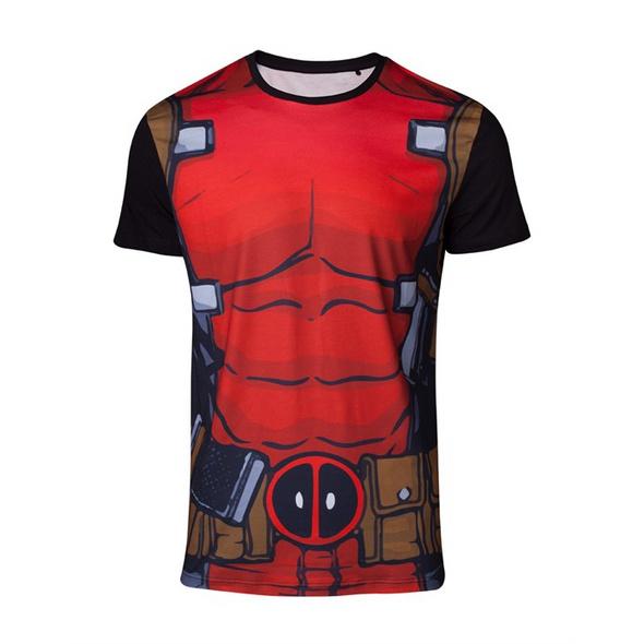 Marvel Deadpool - T-Shirt Suit (Größe M)