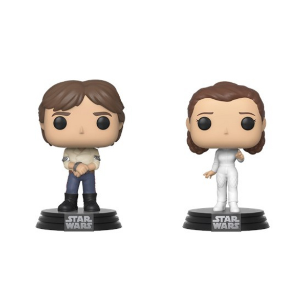 Star Wars - POP!-Vinyl Figur Han Solo & Prinzessin Leia