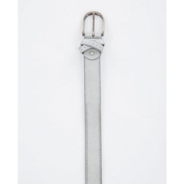 Jeansgürtel in Metallic-Optik