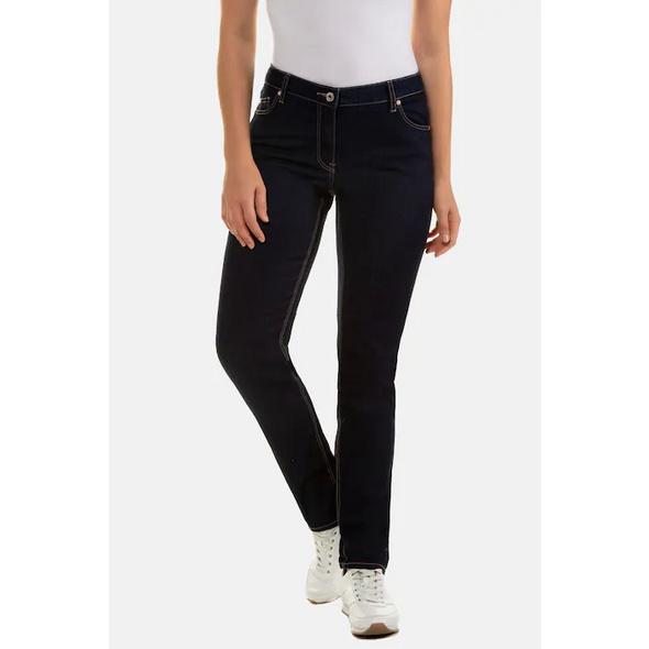 Jeans Tina, gerades Bein, helle Steppnähte