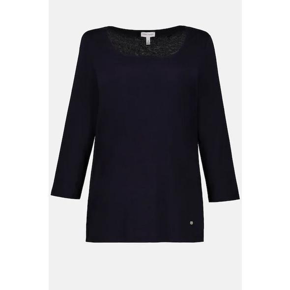 Shirt, Carree-Ausschnitt, 3/4-Arm, Ärmelringel