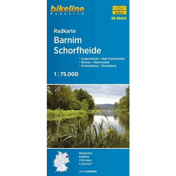 Bikeline Radkarte Deutschland Barnim, Schorfheide 1 : 75 000