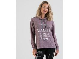 Sweatshirt mit Folienschrift