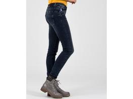Dunkelblaue Jeans mit Paillettendetails