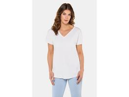 Gina Laura T-Shirt, V-Ausschnitt, Oversized