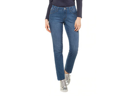 Gina Laura Jeans Tina, Saum-Zierband, 5-Pocket, gerades Bein