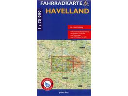 Havelland Fahrradkarte 1 : 75 000